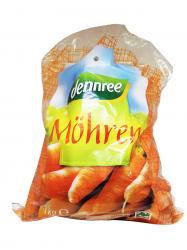 Dennree BIO csomagolt sárgarépa 1 kg