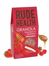 Rude Health Bio granola eperrel és málnával 450 gr
