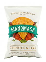Manomasa chipotle & lime tortilla chips 160 gr