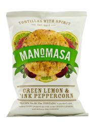 Manomasa zöldcitromos és rózsaborsos chips 160 gr