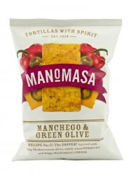 Manomasa Manchego sajtos és zöld olívás chips 40gr
