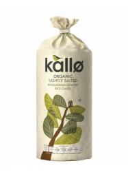 Kallo Bio teljes kiőrlésű rizskeksz zsírszegény, enyén sós 130 gr