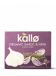 Kallo Bio Fokhagymás zöldfűszeres leveskocka 66 gr