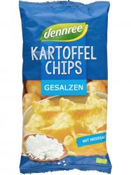Dennree Bio Burgonya chips tengeri sóval 125 gr
