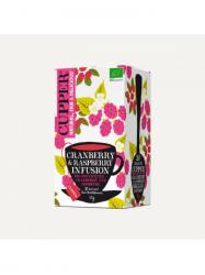 Cupper Bio koffein mentes vörösáfonyás-málnás tea 20 db