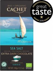 Cachet BIO Étcsokoládé tengeri sóval 72% 100 gr