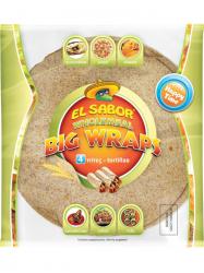 EL SABOR Wraps teljes kiőrlésű 25 cm 245 gr