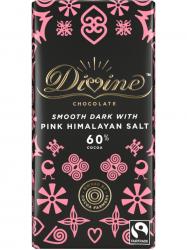 Divine Étcsokoládé rózsaszín himalája sóval 60% 90 gr