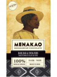 Menakao Étcsoki 100% Kakaóbab darabokkal 75 gr
