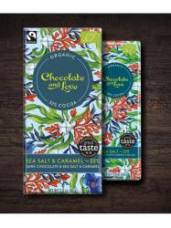 Chocolate and Love 55% tej karamell tengeri sóval 80 gr