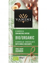 Vanini Uganda Bio Gianduja egész mogyoróval 100 gr